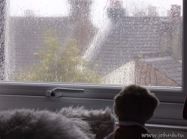 Early Spring Bank Holiday - Rain on the window