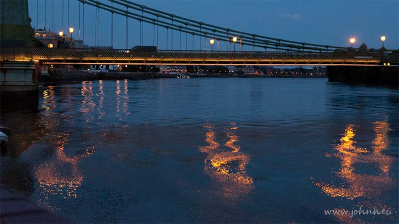 Sprites on the Thames at Hammersmith Bridge