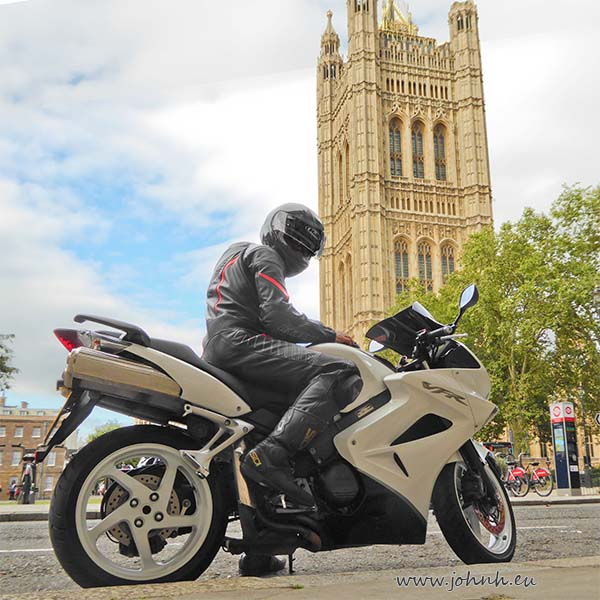 London biker in Westminster