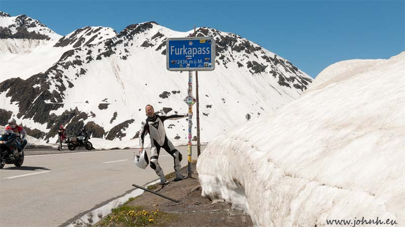 At the col of the Furka Pass
