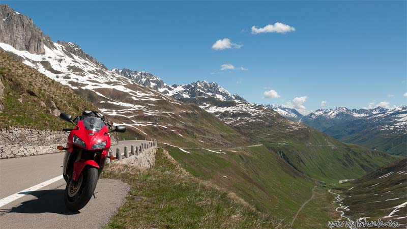 Furka pass road up from Andermatt