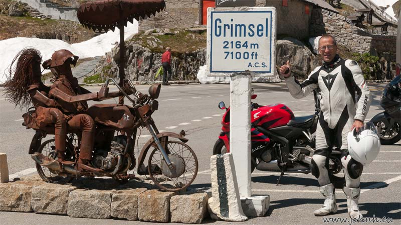 At the col of the Grimsel Pass