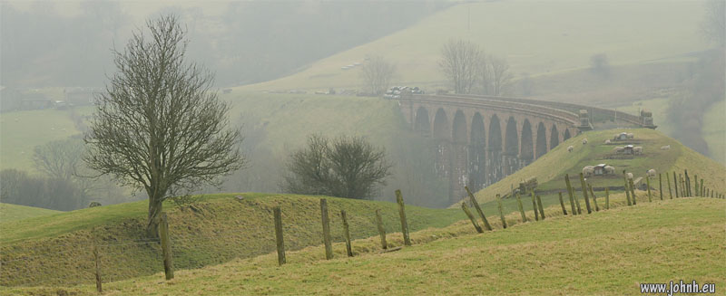 Lowgill viaduct in the mist