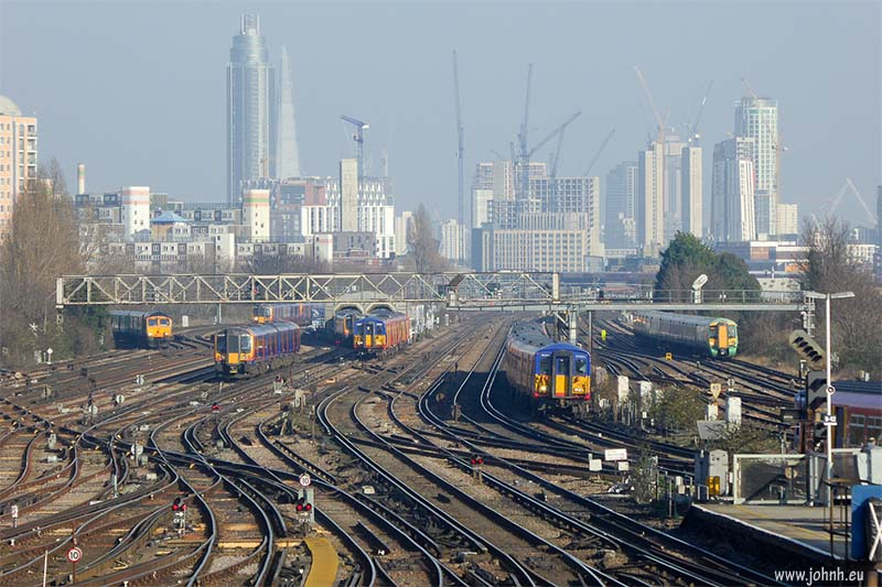London from Clapham Junction
