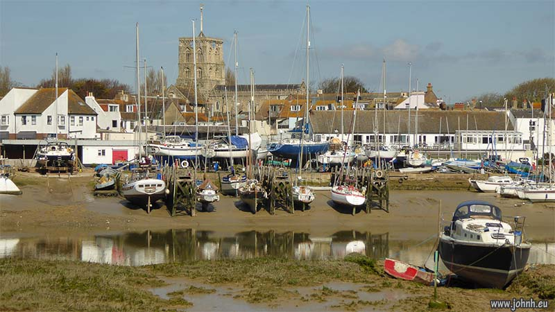 Shoreham harbour in Sussex