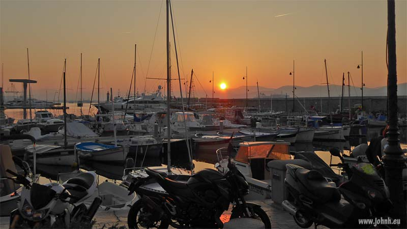 Sunset over St Tropez port