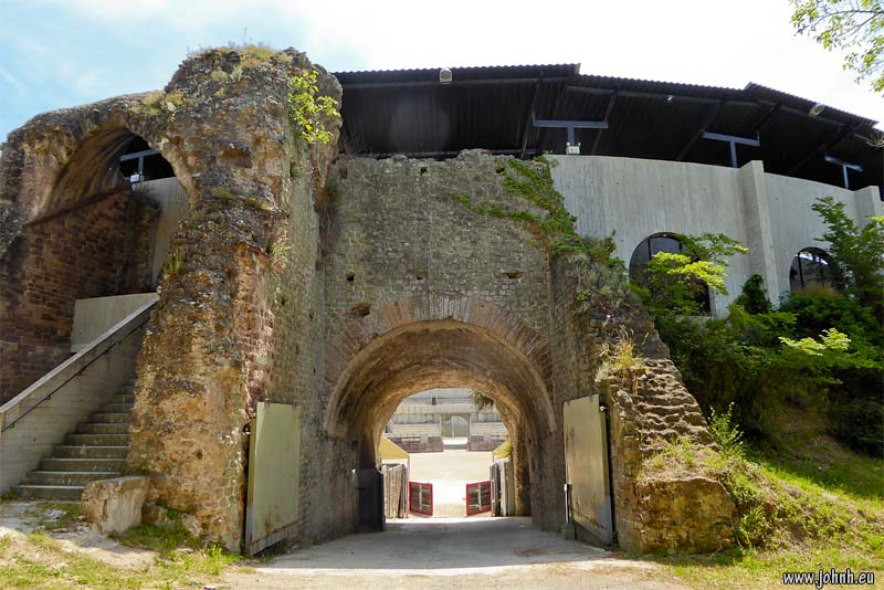 entrance of the gladiators at the Fréjus Roman amphitheatre