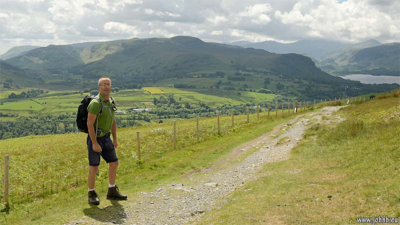 JH hiking on the flanks of Skiddaw