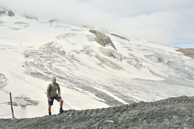 At the Glacier de La Girose