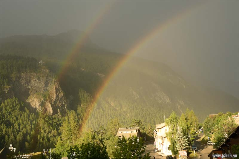 Double rainbow in the Ecrins