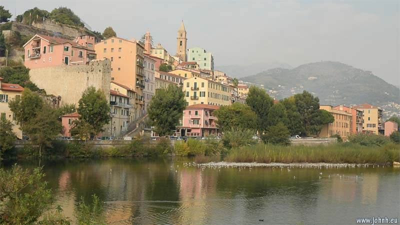 Ventimiglia on the river Roya