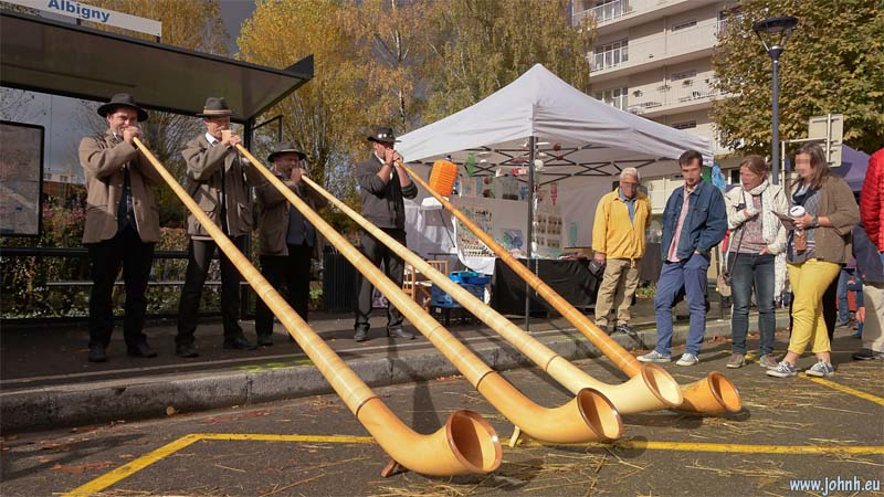 Alphorn quartet at Ancilevienne 2017