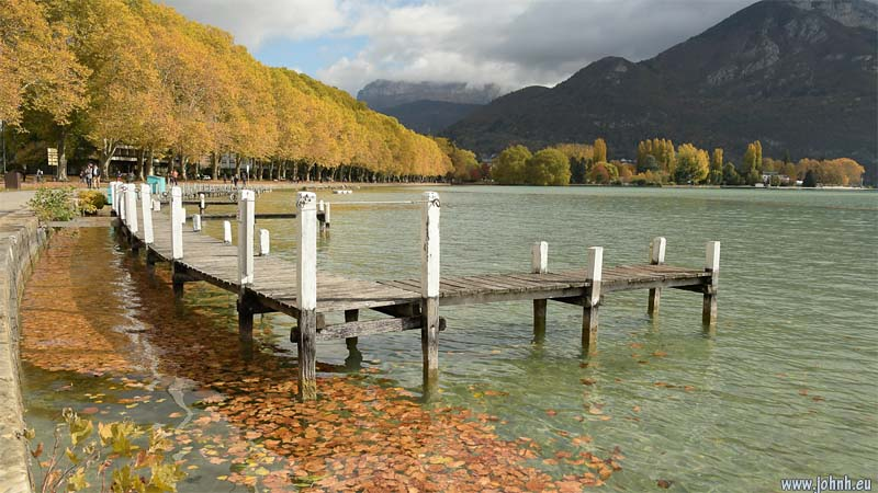 Autumn leaves in the Lac d'Annecy