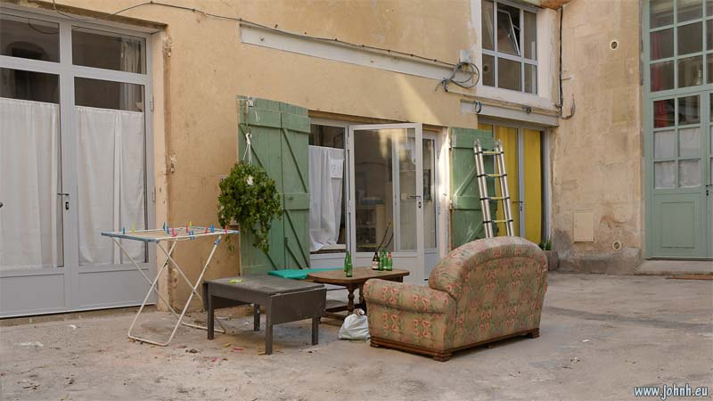 Sofa outside in Arles