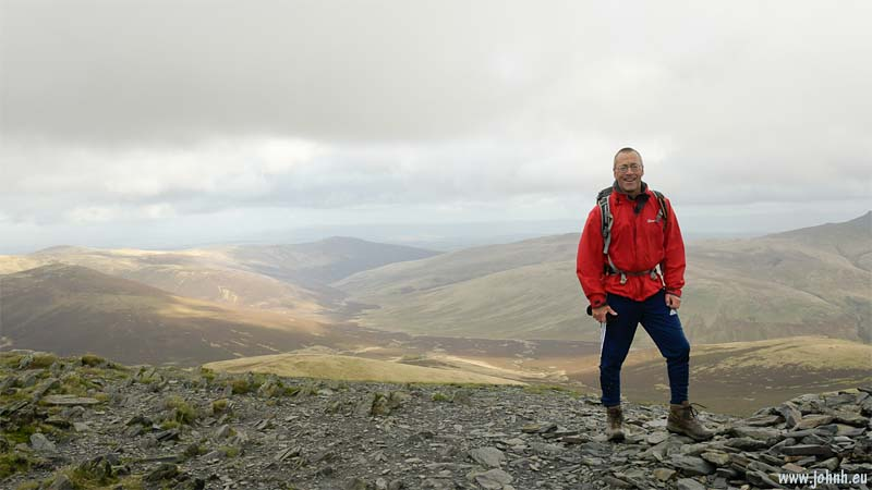 At the summit (865 m) of Skiddaw Little Man