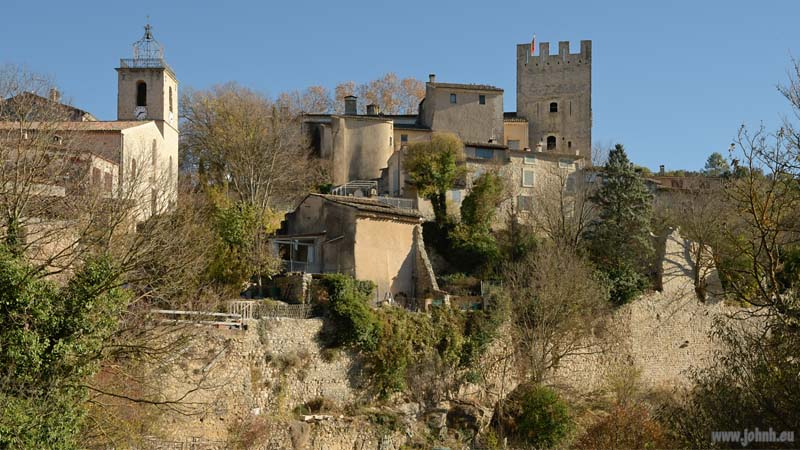 The castle at Esparron sur Verdon
