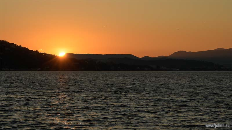 Sunset over the Bay of St Tropez