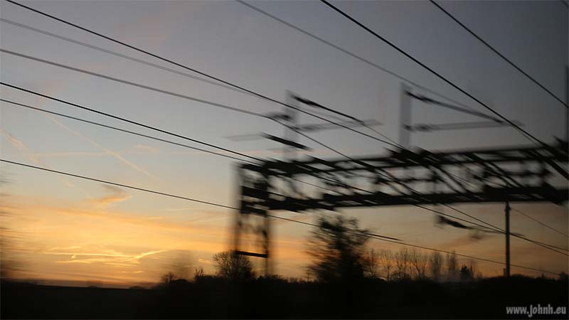 Dawn viewed from the train