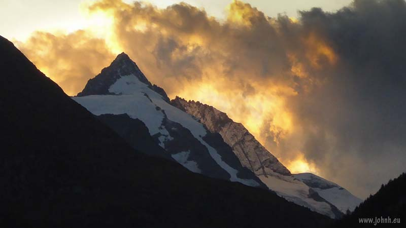 Sunset on the Großglockner peak