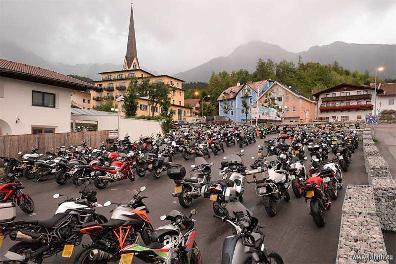 bikes in the rain at Imst