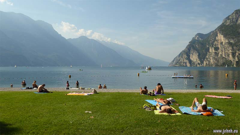 Lido on Lake Garda at Riva del Garda