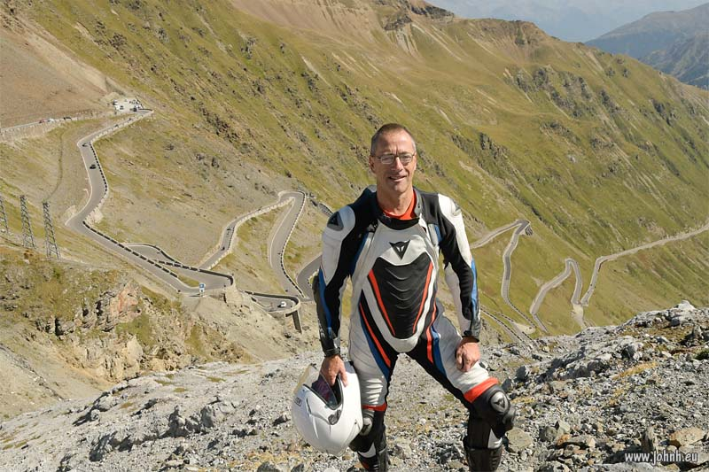 At the top of the Stelvio Pass