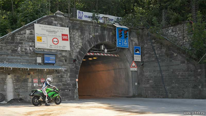 Italian portal of the tunnel di Tenda