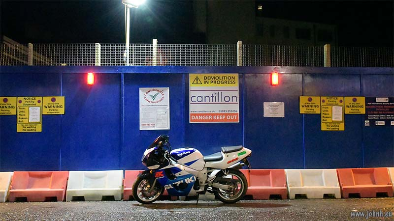 GSXR parked despite multiple prohibtions