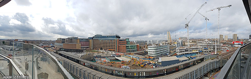 Television Centre from the Westfield Extension - wide view