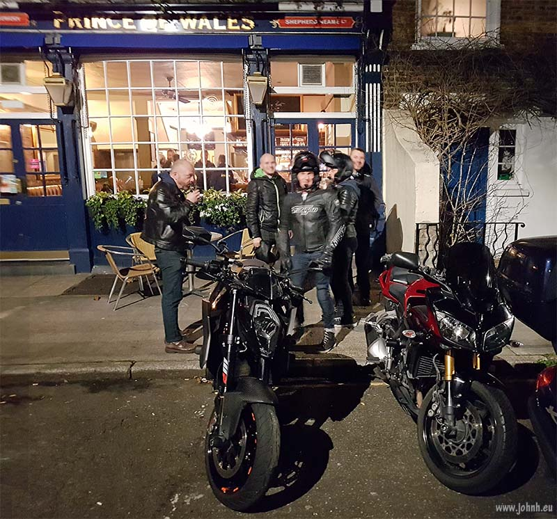 Going home time from the GBMCC London pub night