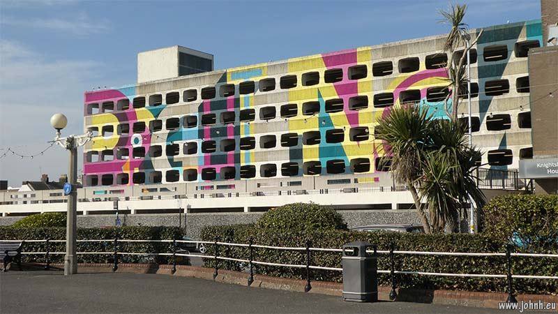Multi storey car park on Worthing sea front