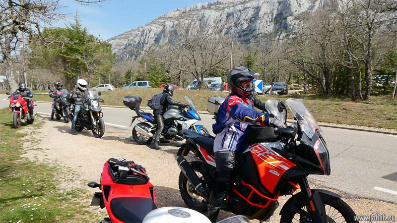 AMA bikers on the road of Mt. Sainte Baume