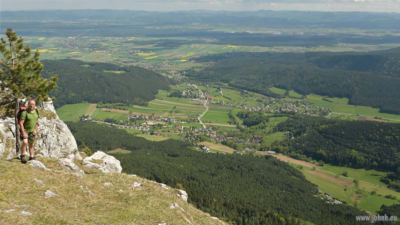 Hohe Wand looking towards Neustadt Vienna