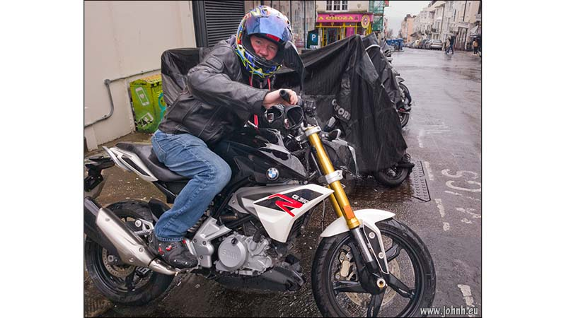 Mike on his BMW G300R