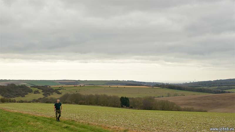 View of Brighton over Faulkner's Bottom, Sussex Downs
