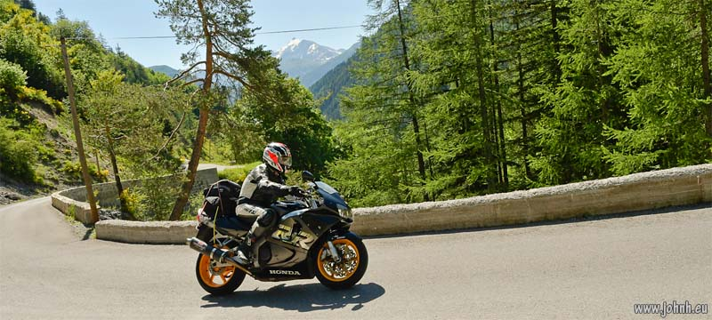 Fireblade on the Col d'Allos