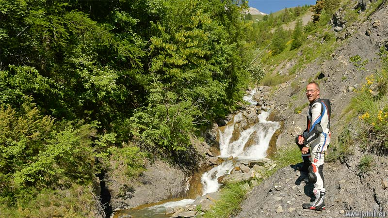 Waterfall on the Col d'Allos