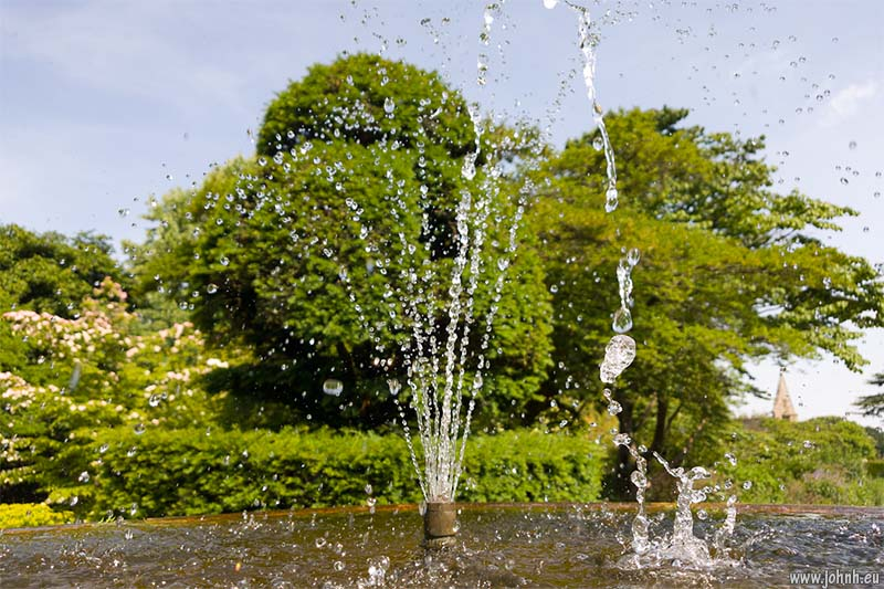 Fountain at Nymans gardens