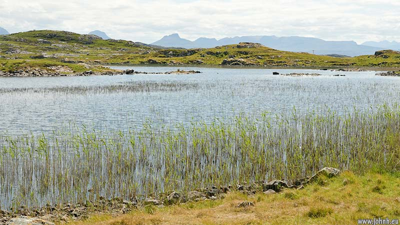 Freshwater loch on the Assynt peninsular