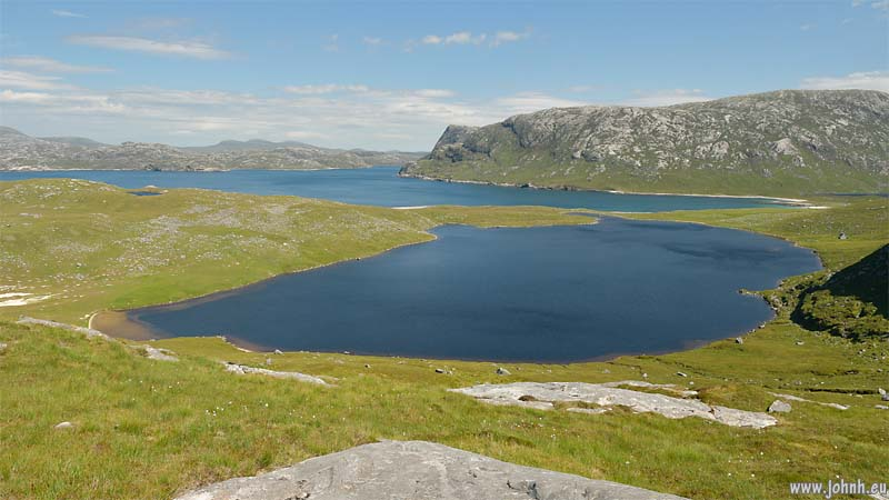 Lochs at Hushinish, North Harris, Outer Hebrides