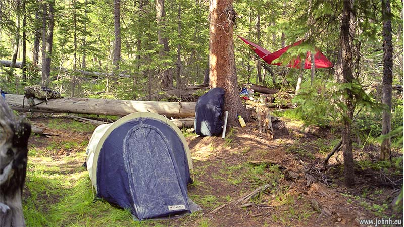 Camp at Granite Lake, Wyoming