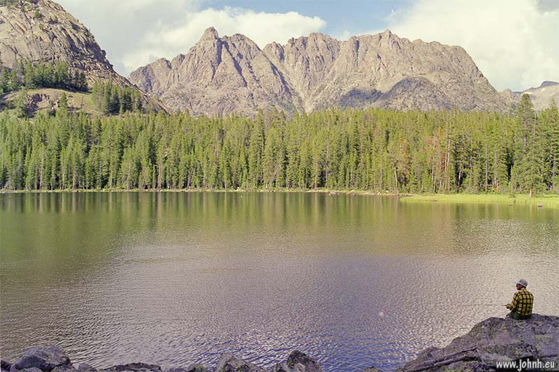 Fishing at Granite Lake, Wyoming