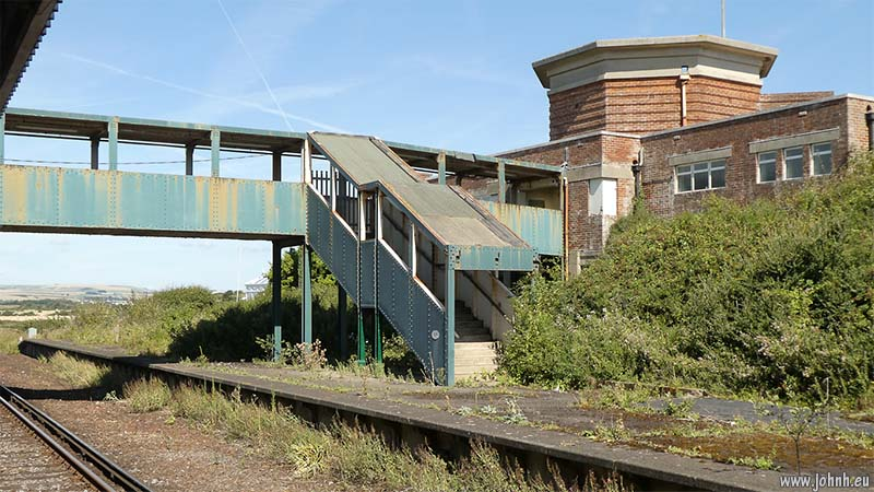 Bishopstone railway station on the western side of the town of Seaford, East Sussex