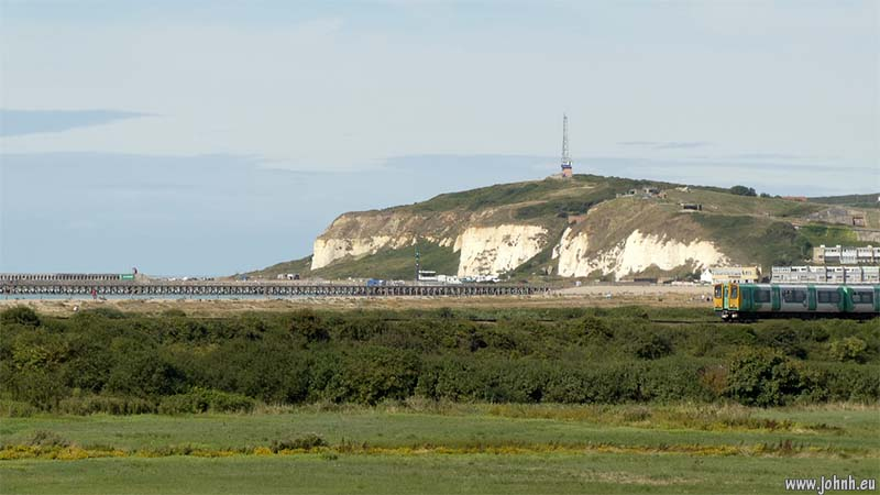 Coastway rail line between Seaford and Newhaven, East Sussex