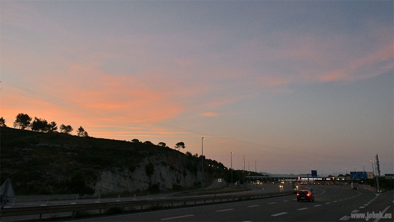 Dawn at the péage de La Ciotat