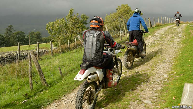 Bikers on The Old Coach Road, Threlkeld