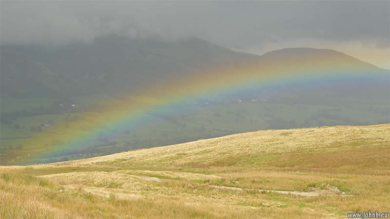 rainbow over Threlkeld, Cumbria