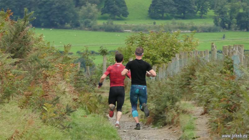 Fell runners in Lycra