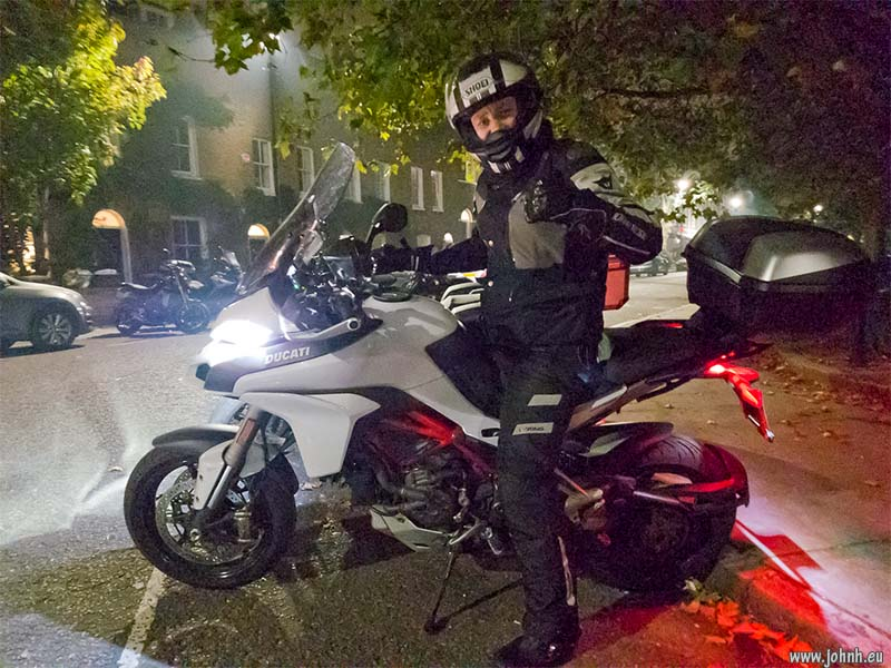 Georges on his Multistrada at the GBMCC London biker social