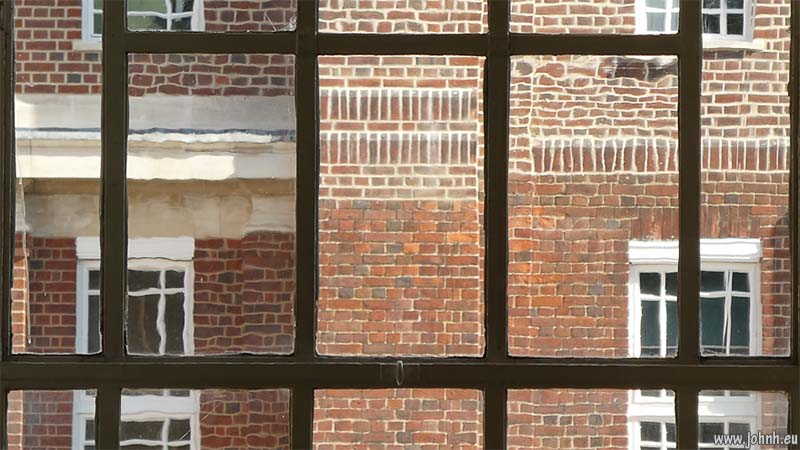 Windows and bricks at Regents University, London